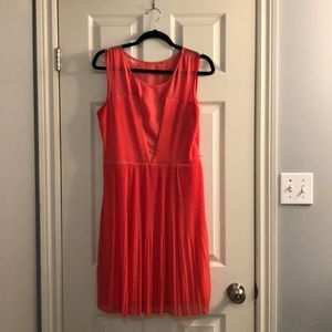 Coral Guess dress with studded belt